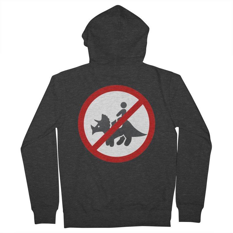 No Dino Rides Men's Zip-Up Hoody by My Shirty Life