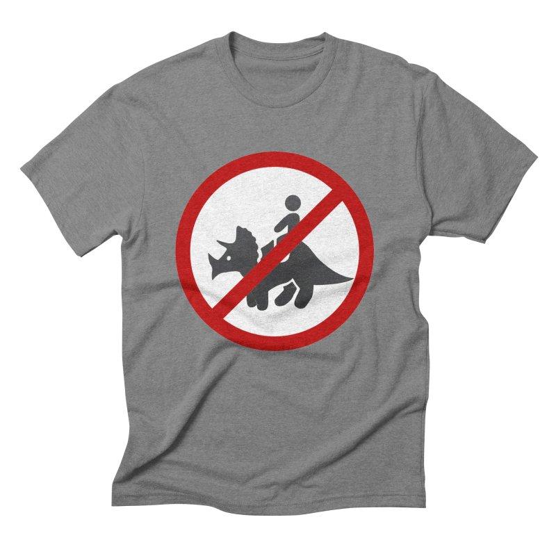 No Dino Rides Men's Triblend T-Shirt by My Shirty Life