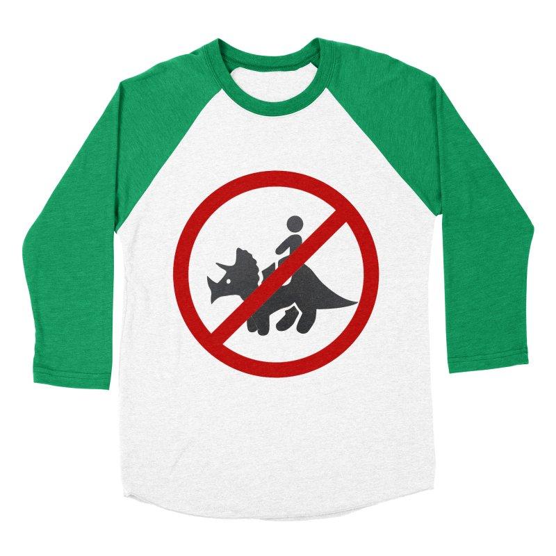 No Dino Rides Men's Baseball Triblend T-Shirt by My Shirty Life
