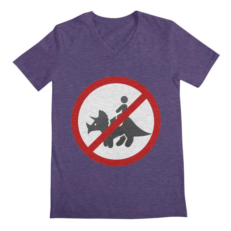 No Dino Rides Men's V-Neck by My Shirty Life