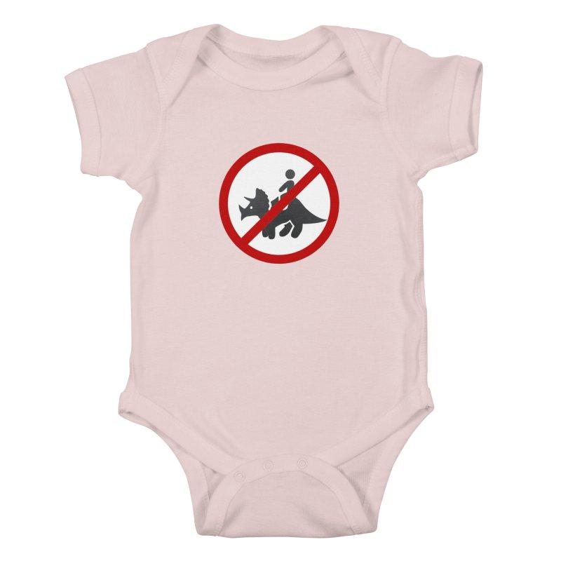 No Dino Rides Kids Baby Bodysuit by My Shirty Life