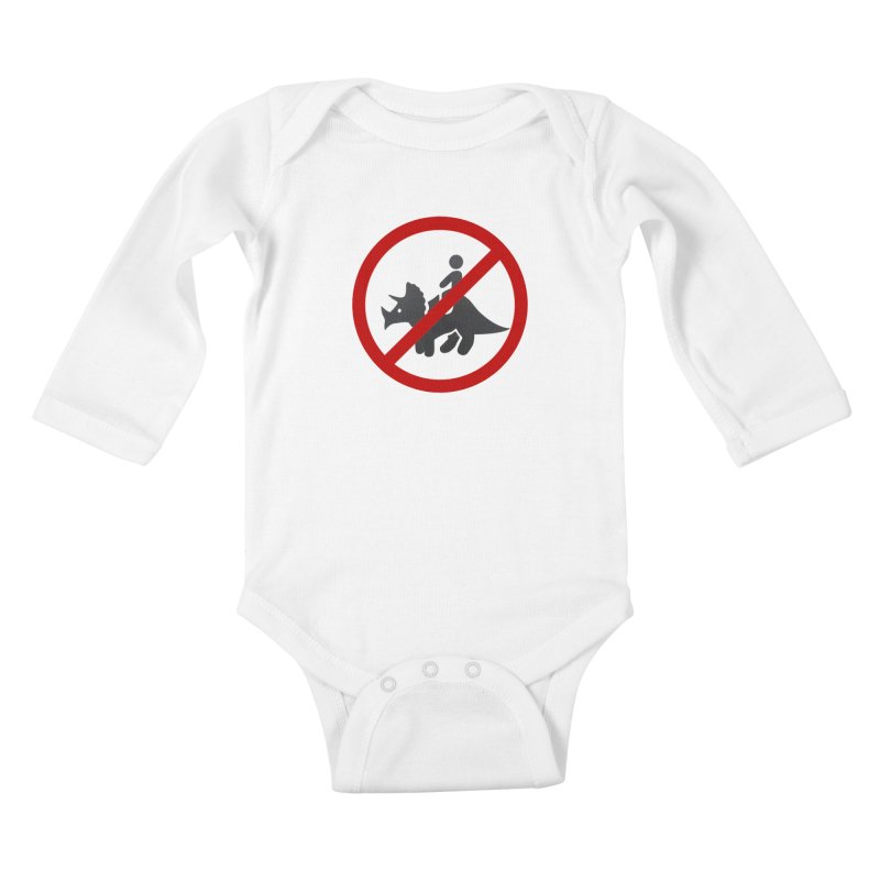 No Dino Rides Kids Baby Longsleeve Bodysuit by My Shirty Life