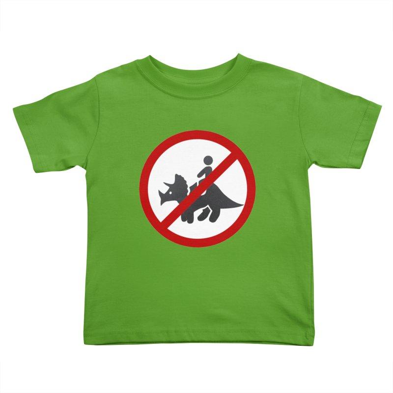 No Dino Rides Kids Toddler T-Shirt by My Shirty Life