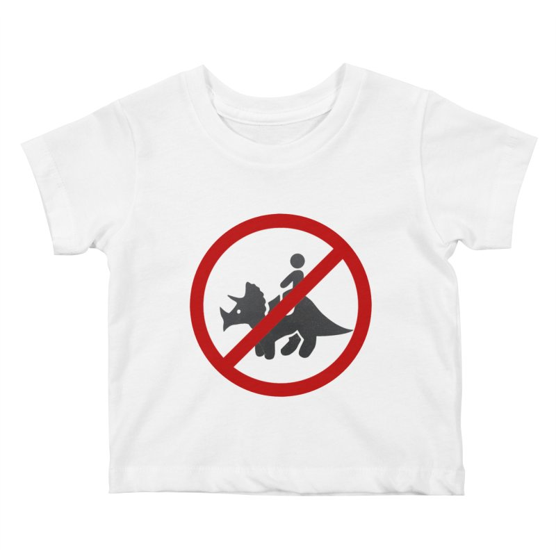 No Dino Rides Kids Baby T-Shirt by My Shirty Life