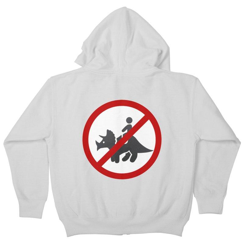 No Dino Rides Kids Zip-Up Hoody by My Shirty Life