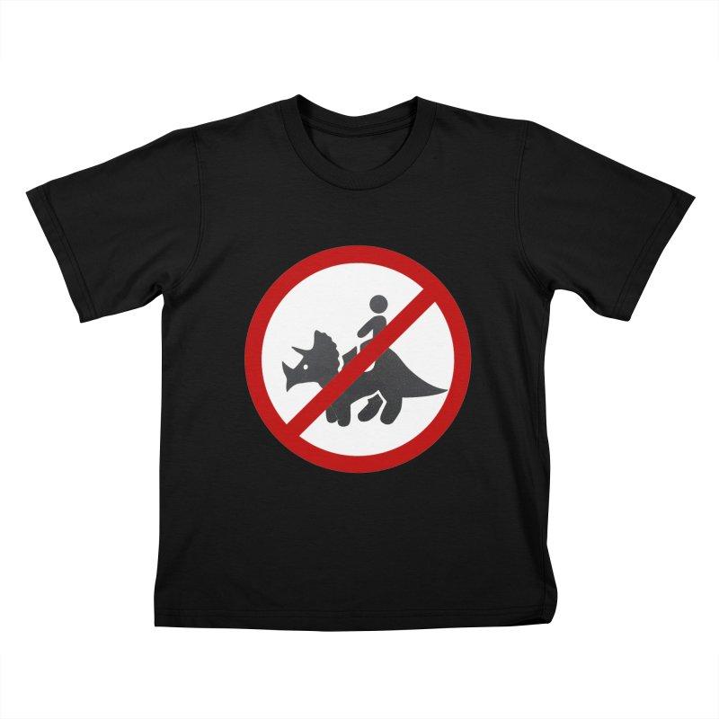No Dino Rides Kids T-Shirt by My Shirty Life