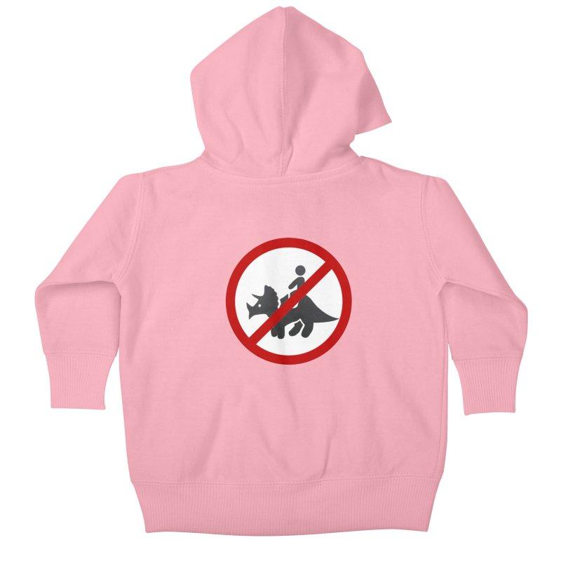 No Dino Rides Kids Baby Zip-Up Hoody by My Shirty Life