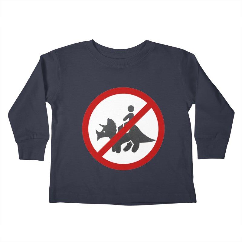 No Dino Rides Kids Toddler Longsleeve T-Shirt by My Shirty Life