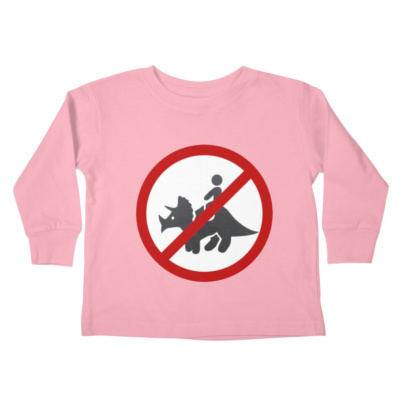 No Dino Rides Kids Toddler Longsleeve T-Shirt by My Shirty Life