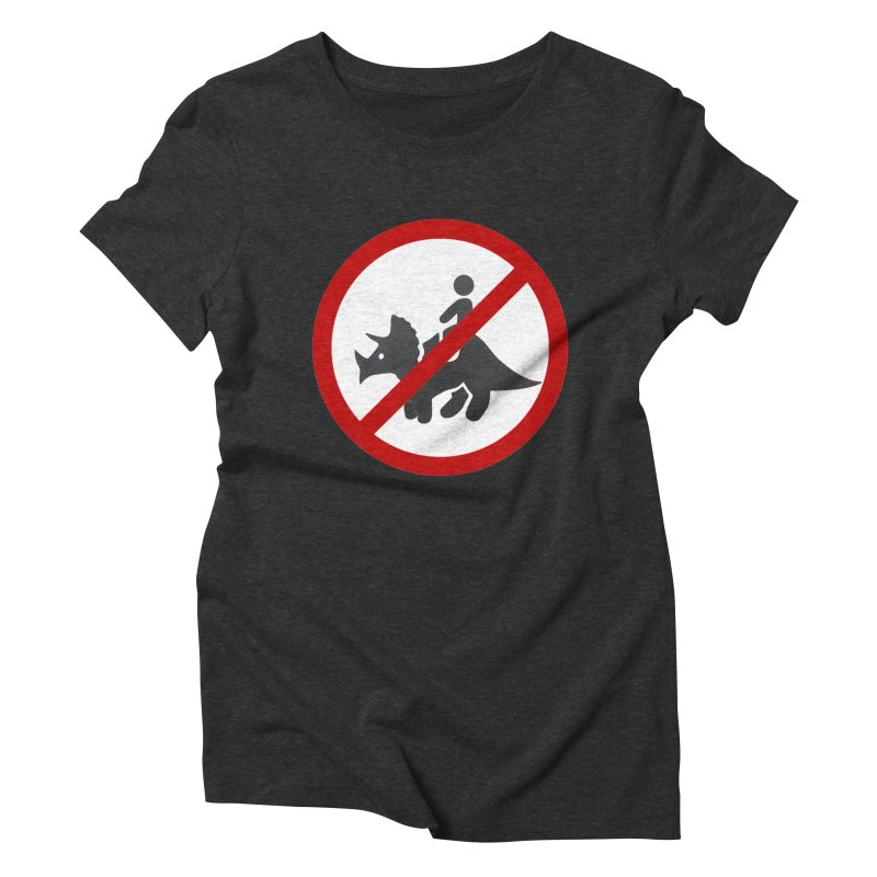No Dino Rides Women's Triblend T-Shirt by My Shirty Life