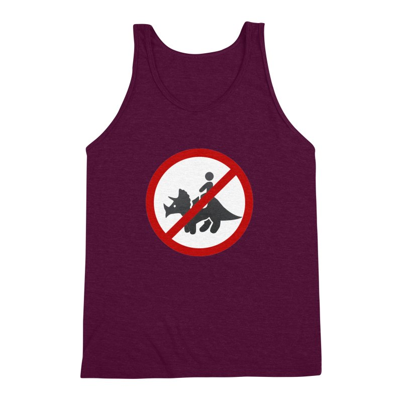 No Dino Rides Men's Triblend Tank by My Shirty Life