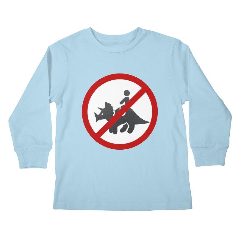 No Dino Rides Kids Longsleeve T-Shirt by My Shirty Life