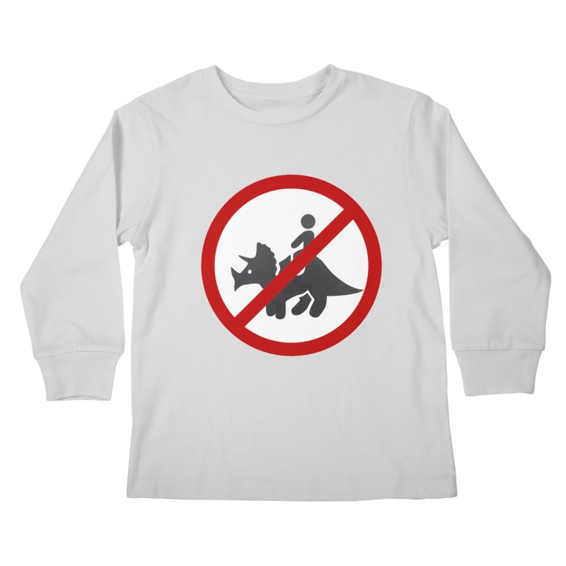 No Dino Rides Kids Longsleeve T-Shirt by My Shirty Life