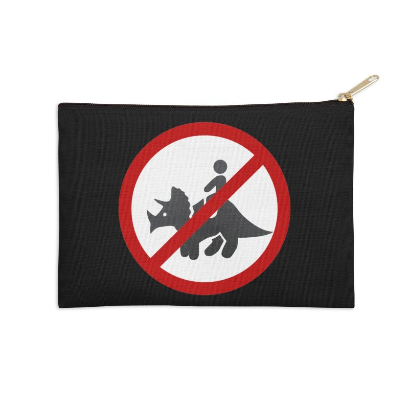 No Dino Rides Accessories Zip Pouch by My Shirty Life
