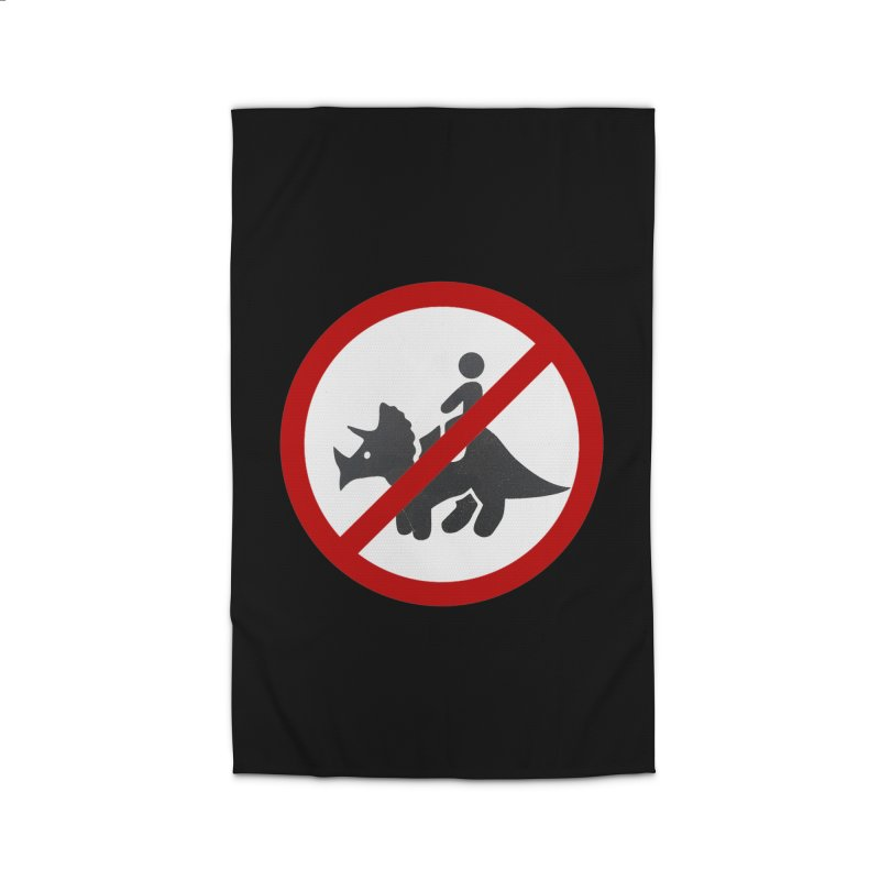 No Dino Rides Home Rug by My Shirty Life