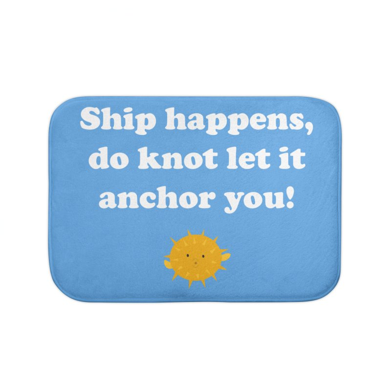 Ship Happens Home Bath Mat by My Shirty Life