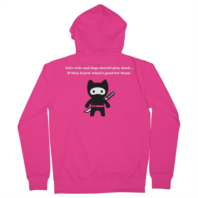 Cats Rule, Dogs Should Play Dead... Men's Zip-Up Hoody by My Shirty Life