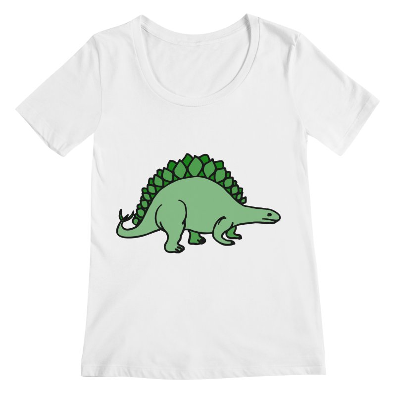Dinosaurs VS Catering Women's Scoopneck by My Shirty Life