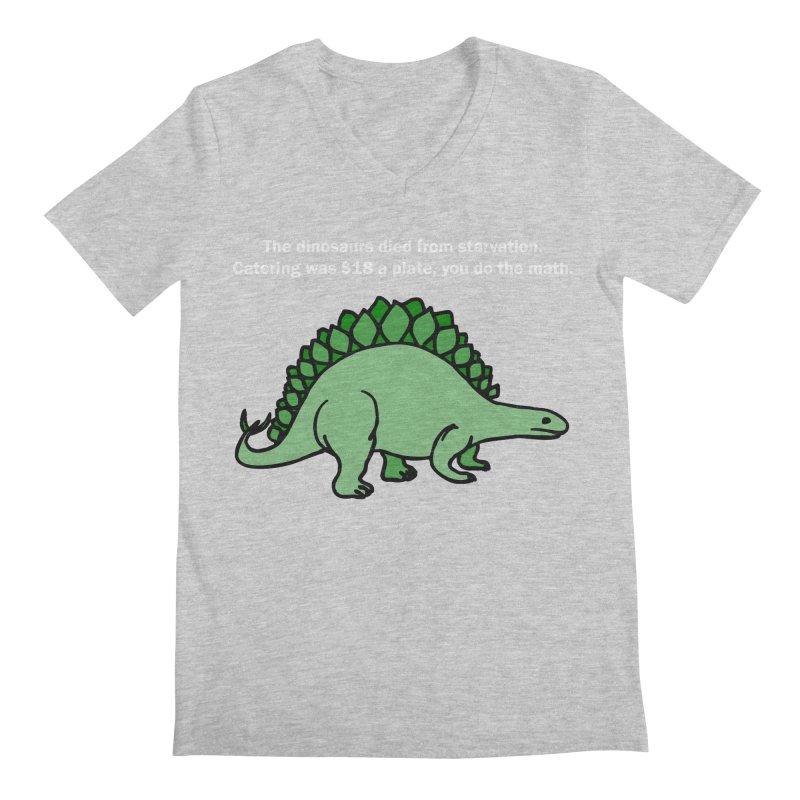 Dinosaurs VS Catering Men's V-Neck by My Shirty Life