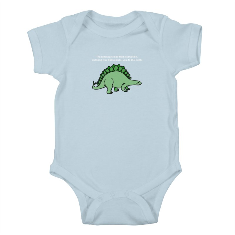 Dinosaurs VS Catering Kids Baby Bodysuit by My Shirty Life