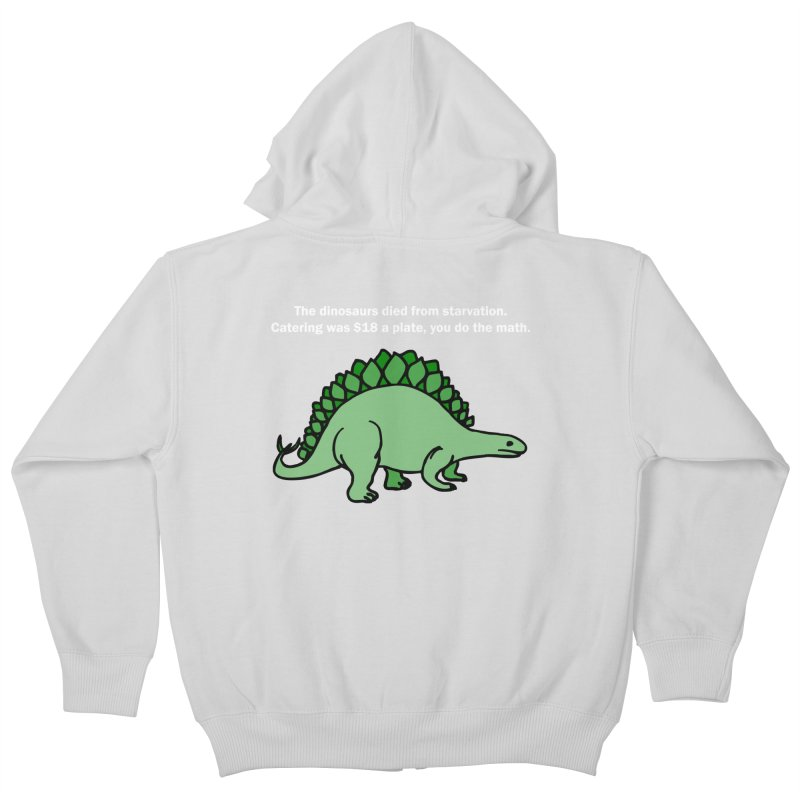 Dinosaurs VS Catering Kids Zip-Up Hoody by My Shirty Life