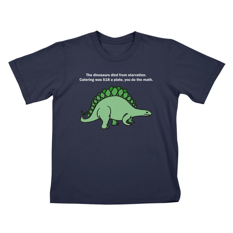 Dinosaurs VS Catering Kids T-Shirt by My Shirty Life