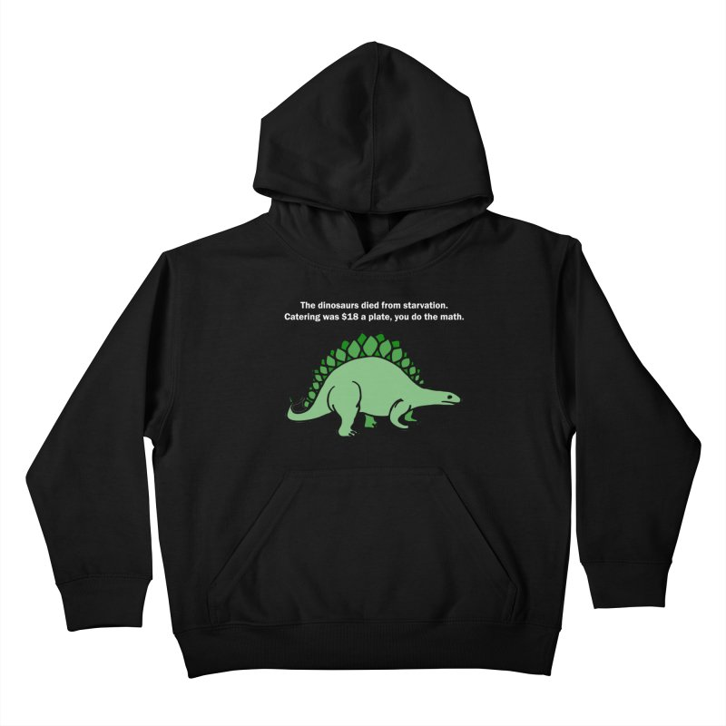 Dinosaurs VS Catering Kids Pullover Hoody by My Shirty Life