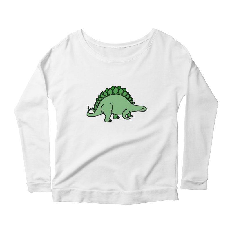 Dinosaurs VS Catering Women's Longsleeve Scoopneck  by My Shirty Life