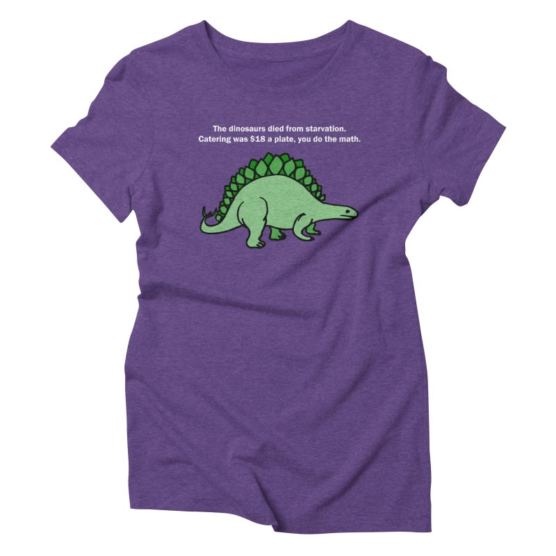 Dinosaurs VS Catering Women's Triblend T-Shirt by My Shirty Life