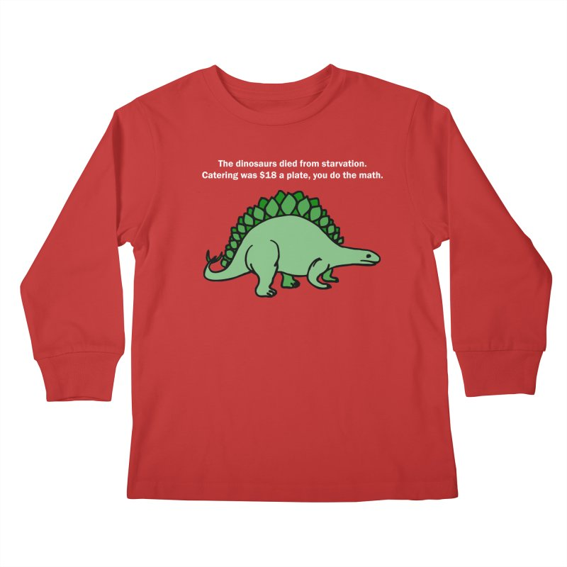 Dinosaurs VS Catering Kids Longsleeve T-Shirt by My Shirty Life