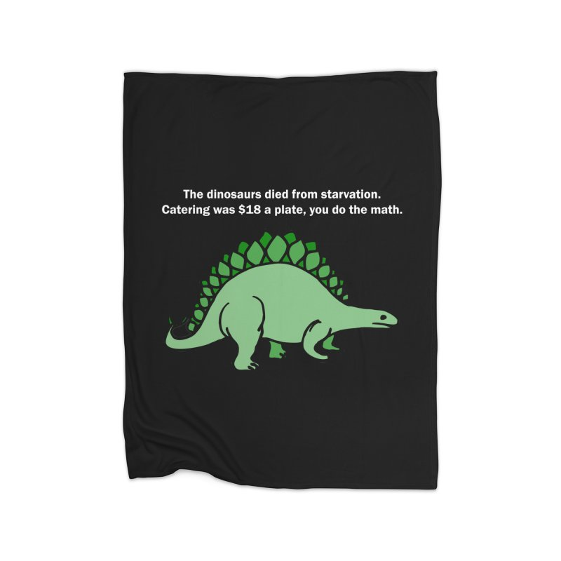 Dinosaurs VS Catering Home Blanket by My Shirty Life