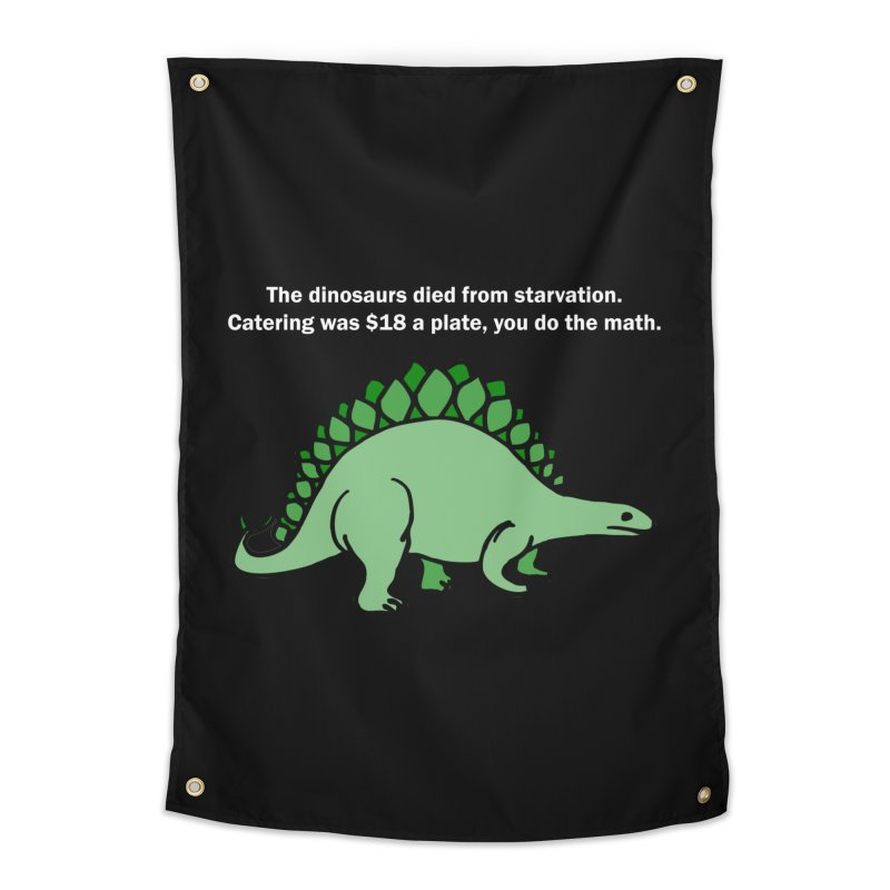 Dinosaurs VS Catering Home Tapestry by My Shirty Life