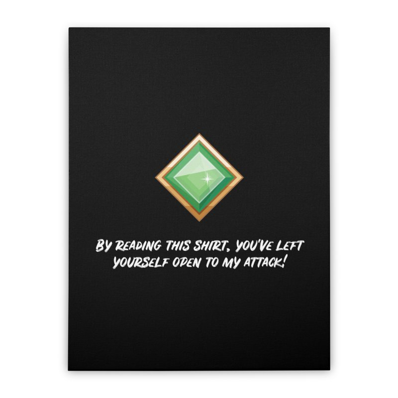 Brawler Jade Home Stretched Canvas by My Shirty Life