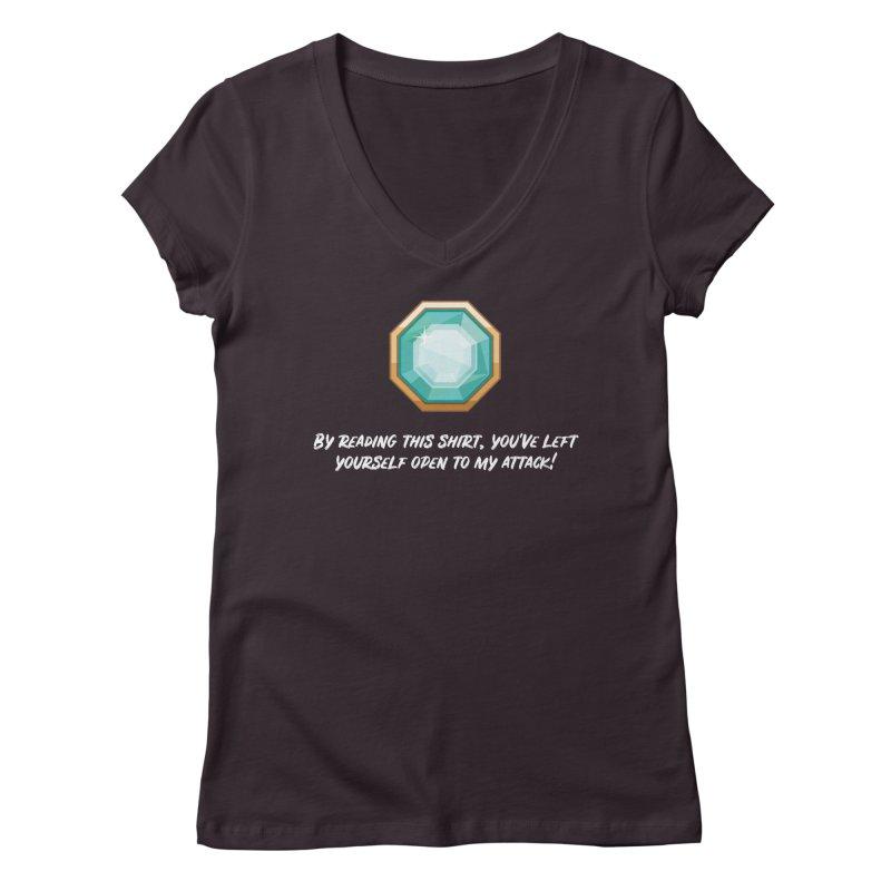 Brawler Sapphire Women's V-Neck by My Shirty Life