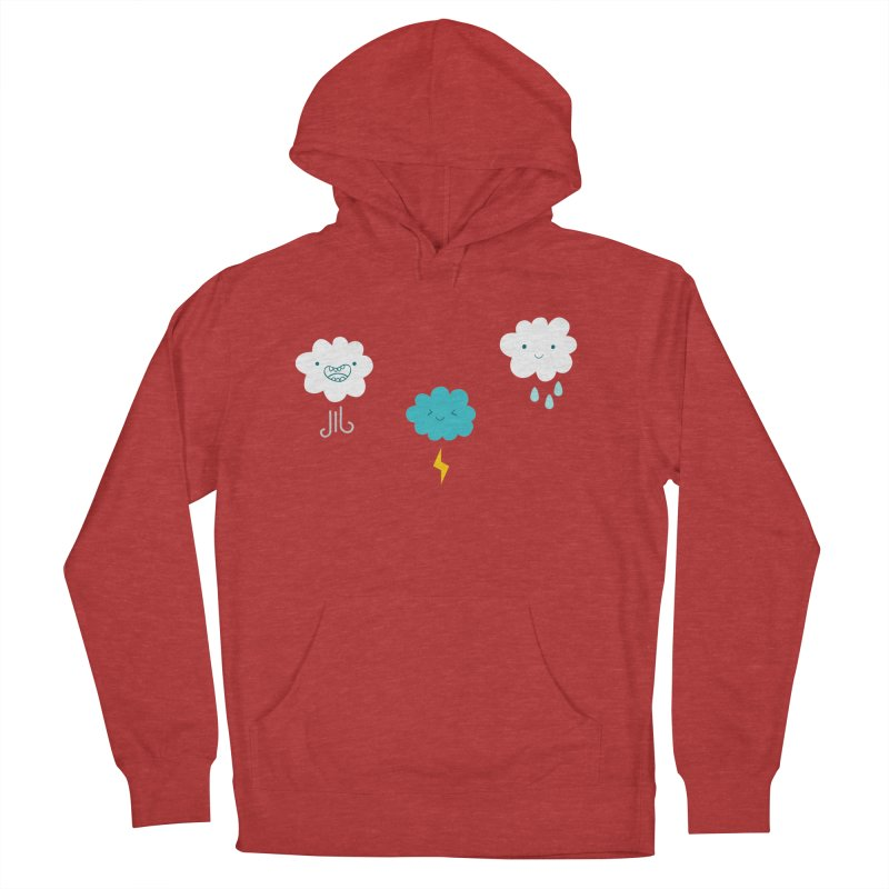 Three Totally Normal Clouds Men's Pullover Hoody by My Shirty Life