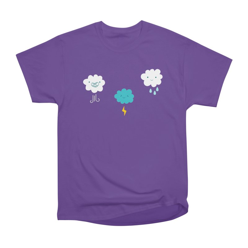 Three Totally Normal Clouds Women's Classic Unisex T-Shirt by My Shirty Life