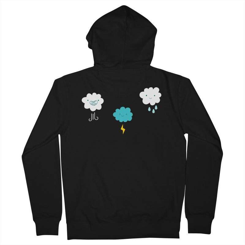 Three Totally Normal Clouds Men's Zip-Up Hoody by My Shirty Life