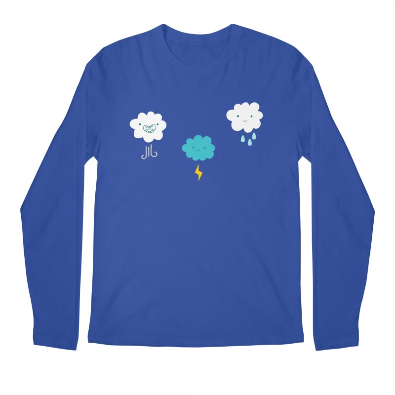 Three Totally Normal Clouds Men's Longsleeve T-Shirt by My Shirty Life