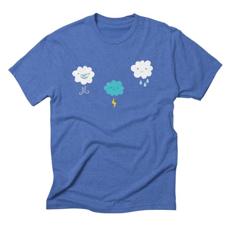 Three Totally Normal Clouds Men's Triblend T-Shirt by My Shirty Life