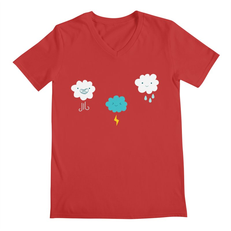 Three Totally Normal Clouds Men's V-Neck by My Shirty Life