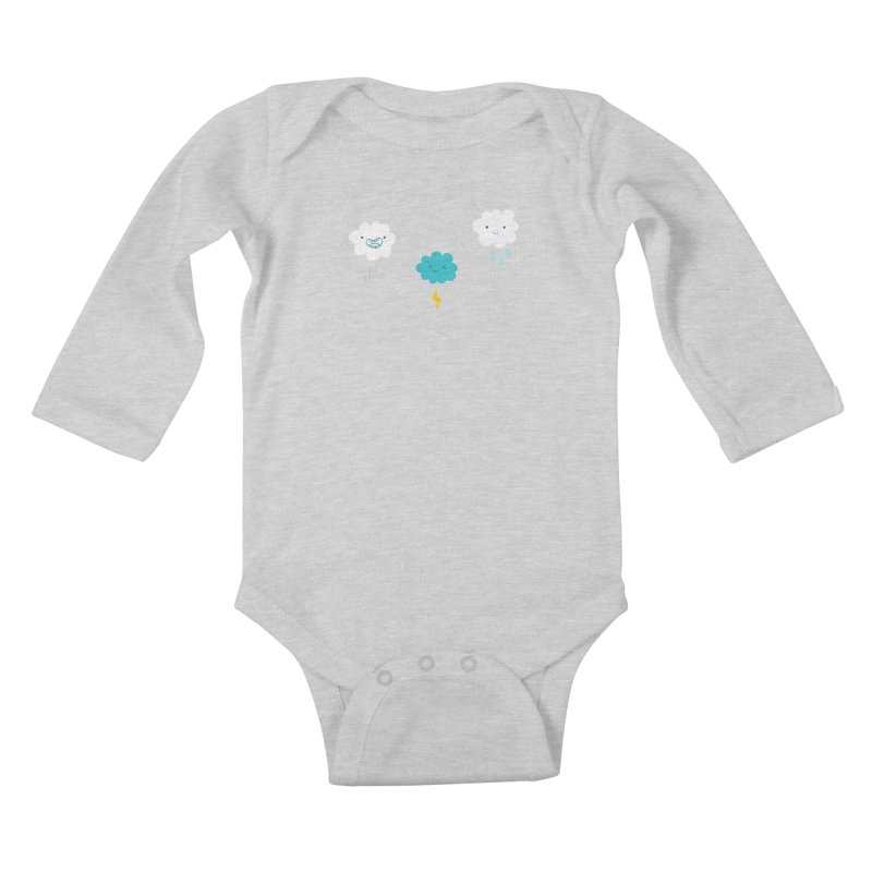 Three Totally Normal Clouds Kids Baby Longsleeve Bodysuit by My Shirty Life