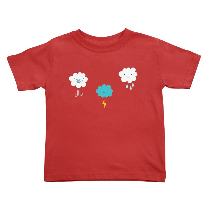 Three Totally Normal Clouds Kids Toddler T-Shirt by My Shirty Life