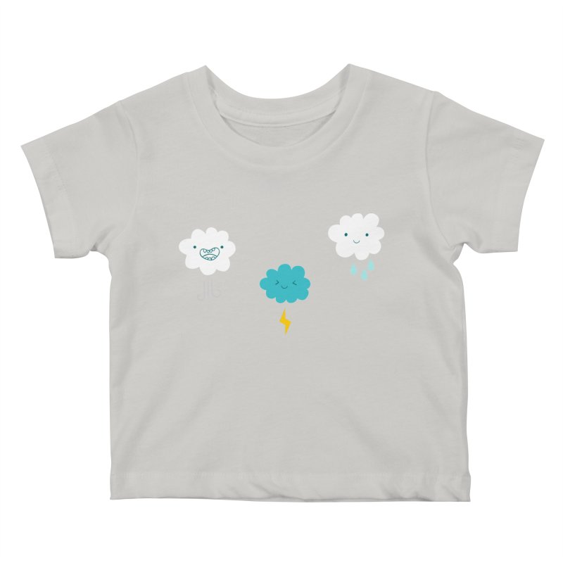 Three Totally Normal Clouds Kids Baby T-Shirt by My Shirty Life