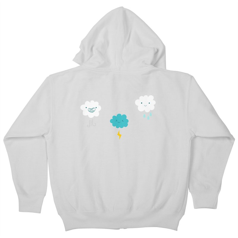 Three Totally Normal Clouds Kids Zip-Up Hoody by My Shirty Life