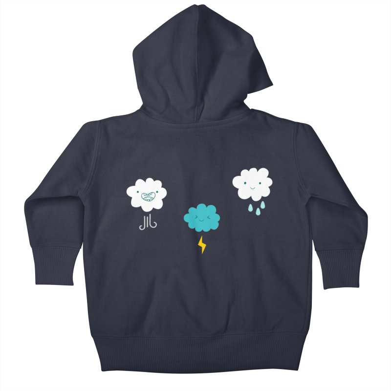Three Totally Normal Clouds Kids Baby Zip-Up Hoody by My Shirty Life