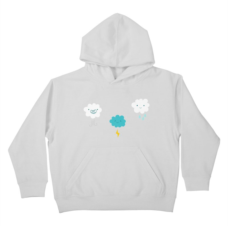 Three Totally Normal Clouds Kids Pullover Hoody by My Shirty Life