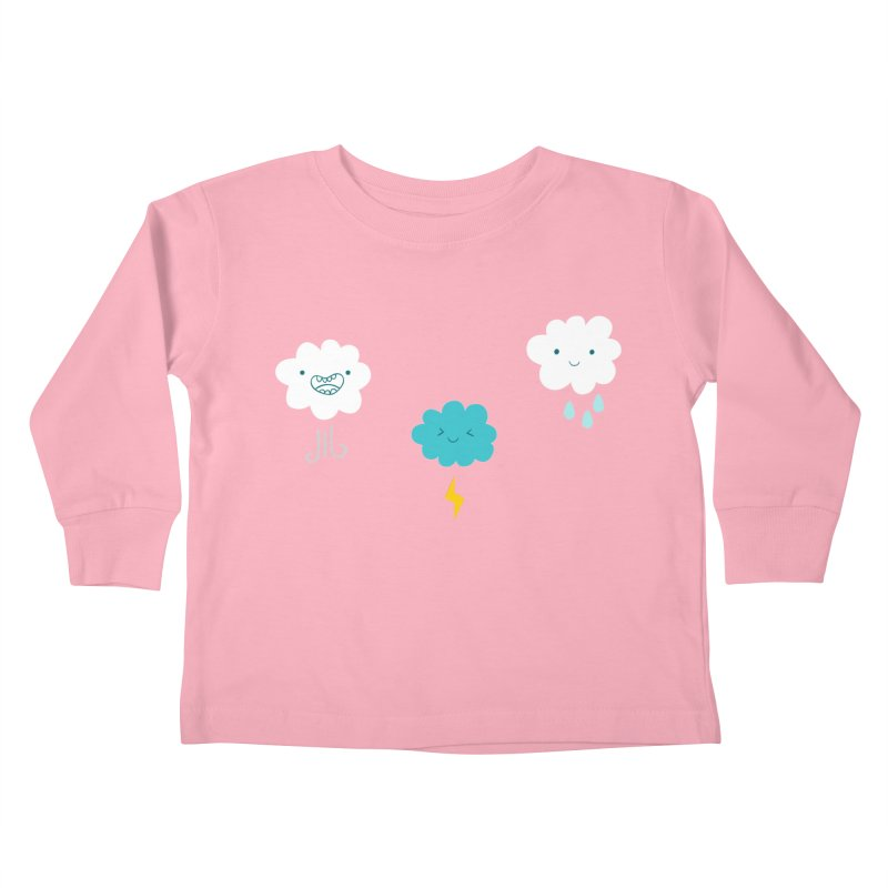 Three Totally Normal Clouds Kids Toddler Longsleeve T-Shirt by My Shirty Life