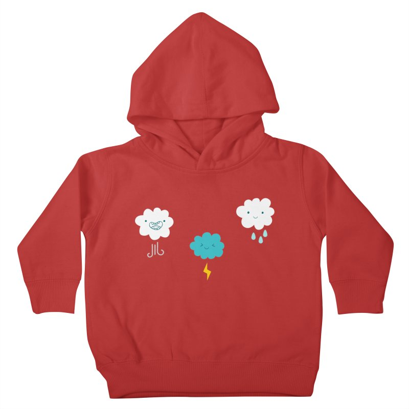 Three Totally Normal Clouds Kids Toddler Pullover Hoody by My Shirty Life