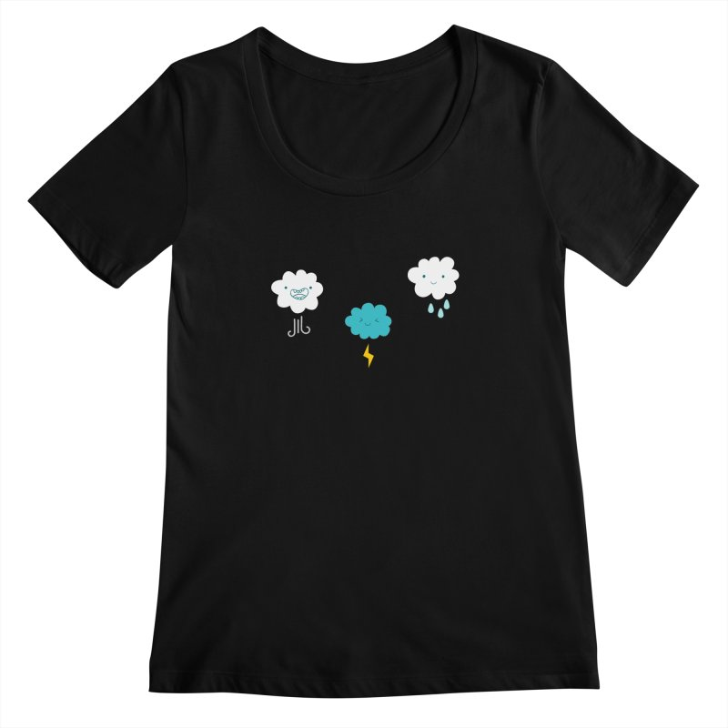 Three Totally Normal Clouds Women's Scoopneck by My Shirty Life