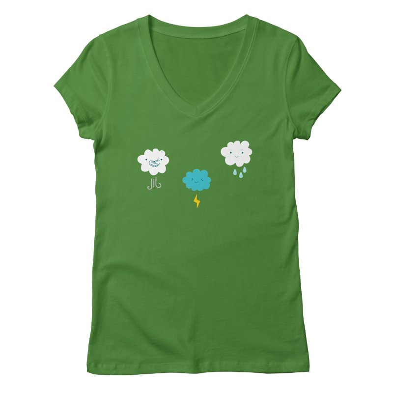 Three Totally Normal Clouds Women's V-Neck by My Shirty Life